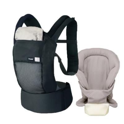 【Combi 康貝】Join Mesh 透氣減壓腰帶式揹巾+內墊灰 (共4色可選)