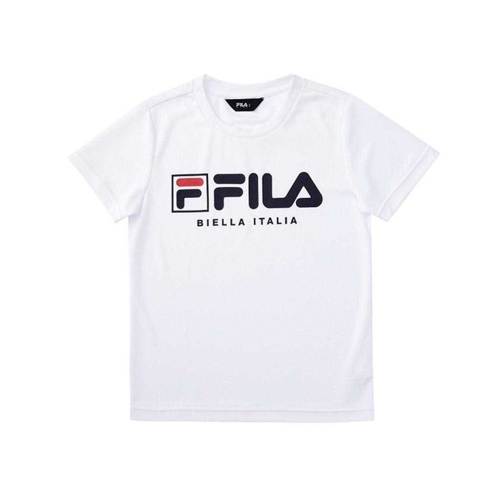 FILA KIDS 童吸濕排汗短袖上衣-白 1TEV-4905-WT