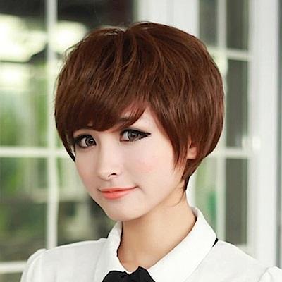 米蘭精品 女假髮整頂短假髮-時尚俐落透氣自然女美髮用品3色68x32