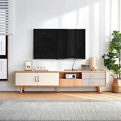 hoi! 林氏木業北歐跳色金屬1.8M電視櫃 LS068 (H014308342)