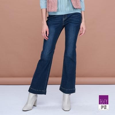 ILEY伊蕾 時尚美式喇叭牛仔褲(藍)