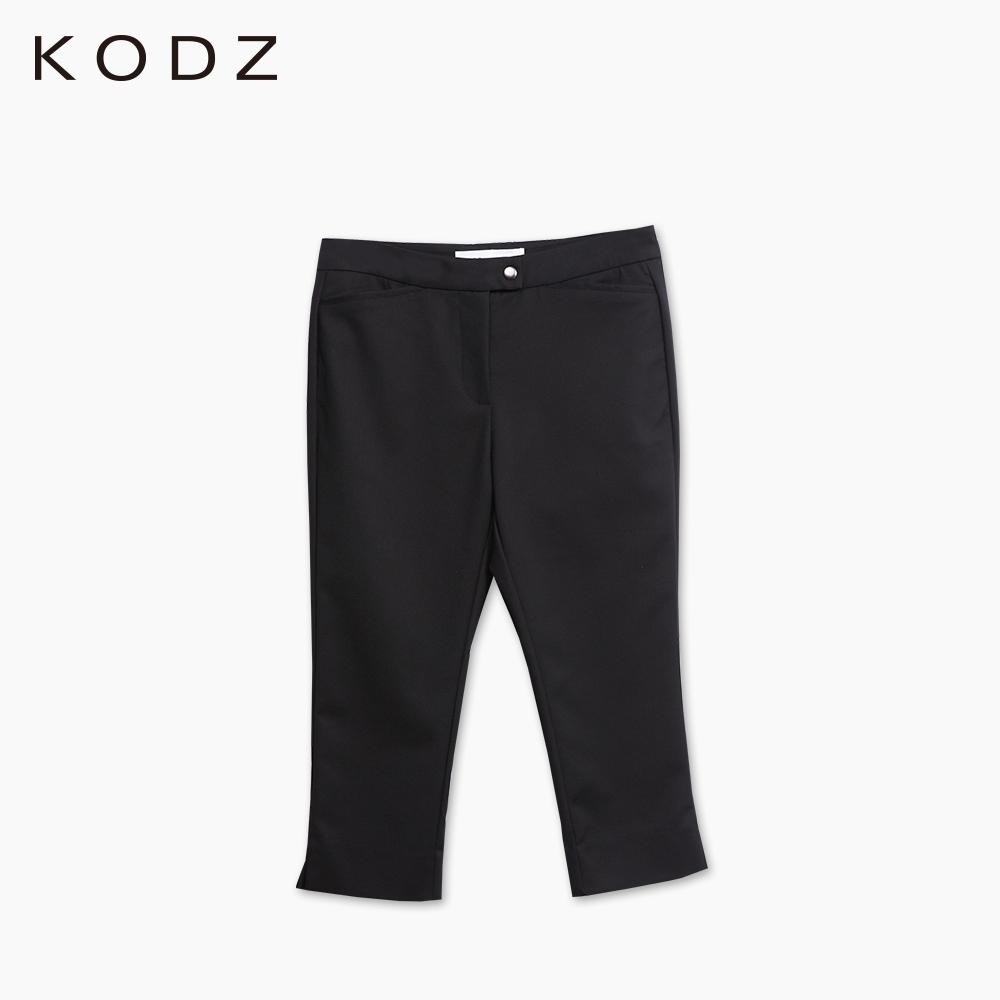東京著衣-KODZ 褲腳開衩七分褲-XS.S.M(共二色)