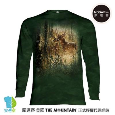 摩達客 美國進口The Mountain 金色鹿時刻 純棉長袖T恤