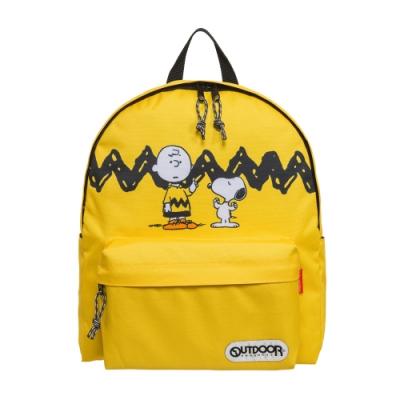 【OUTDOOR】SNOOPY聯名款後背包-黃色 ODP19G02YL
