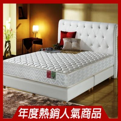 雙人5尺-飯店級加厚款3M抗菌防潑水-蜂巢獨立筒床墊-正反可睡Ally