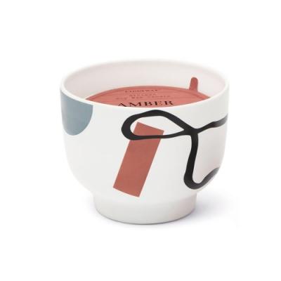 PADDYWAX 美國香氛 Wabi Sabi系列 煙草琥珀 幾何印花陶罐 340g