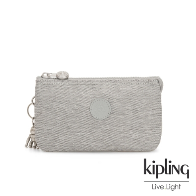Kipling 清新柔和丹寧灰三夾層配件包-CREATIVITY L