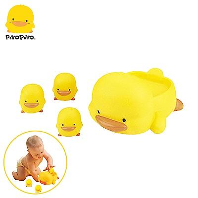 【任選】黃色小鴨《PiyoPiyo》水中有聲玩具組(4入)