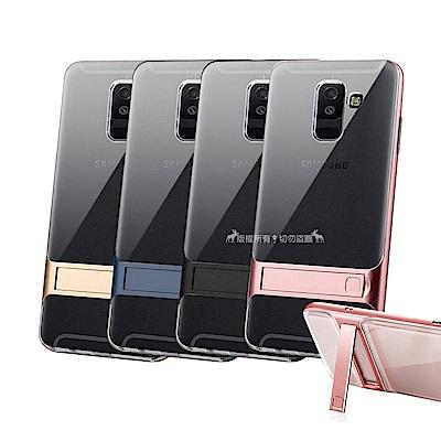 VXTRA Samsung Galaxy A6+ 晶透支架保護殼 手機殼