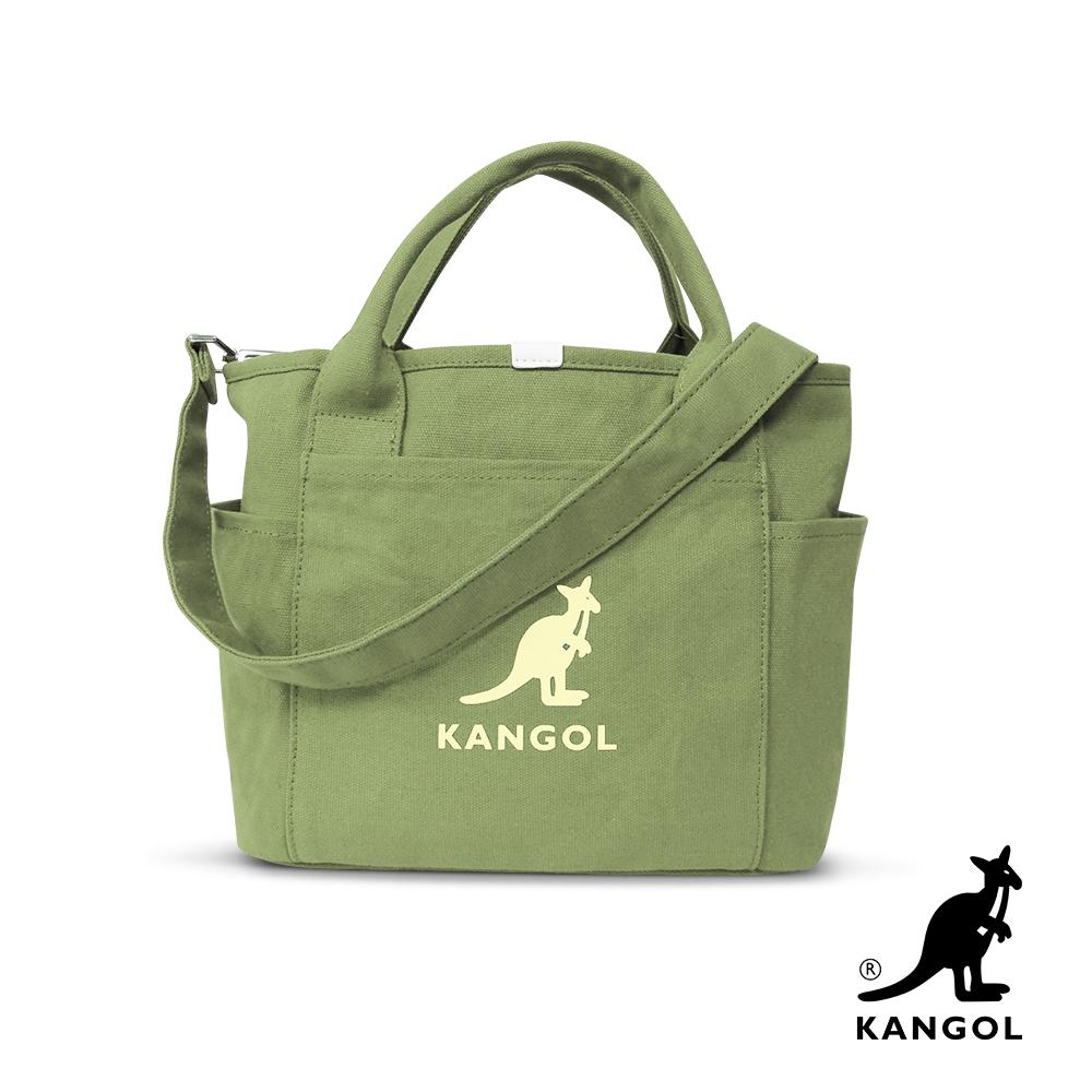 福利品 KANGOL 韓版玩色-帆布手提/斜背托特包-草綠