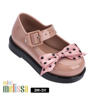 Melissa 氣質點點蝴蝶結公主鞋 寶寶款 裸粉