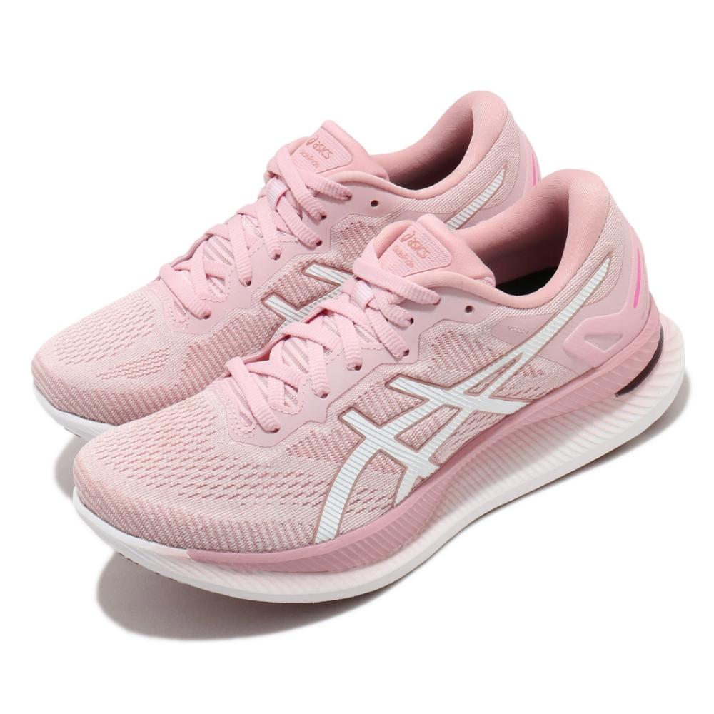 Asics 慢跑鞋 GlideRide 運動休閒 女鞋 亞瑟士 路跑 輕量 省力 緩震 粉 白 1012A699703