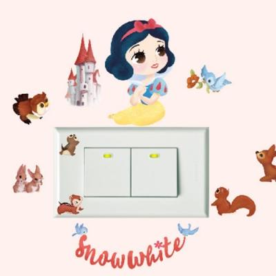 itaste小品味 BID103 Q版公主開關壁貼-白雪公主