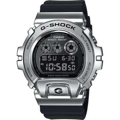CASIO 卡西歐 G-SHOCK DW-6900 25周年金屬手錶(GM-6900-1)
