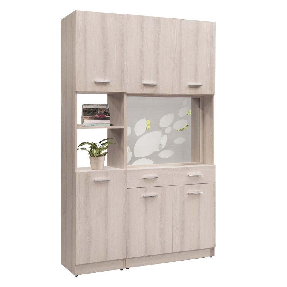 文創集 菲倫4尺六門二抽雙面櫃/隔間玄關櫃(雙面可開門設計)-120x38x197cm免組