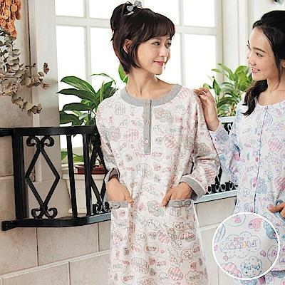 華歌爾睡衣-Pretty Amy 樂趣 M-L 長袖裙裝家居服(藍)