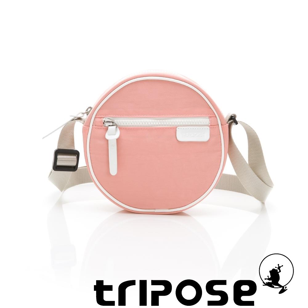 tripose PIPE系列滾邊圓型斜背包 淺粉
