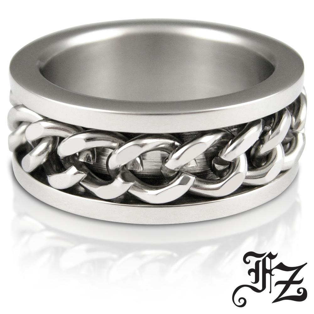 FZ 典藏光圈白鋼戒指(戒圍可選)