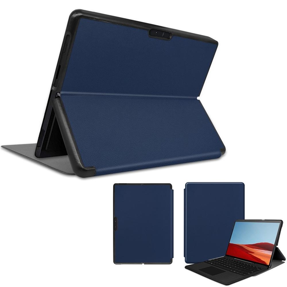 微軟 Microsoft Surface PRO X 13吋 專用高質感可裝鍵盤平板電腦皮套 貼心設計!! 可放原廠鍵盤 方便攜帶 平板皮套 保護套