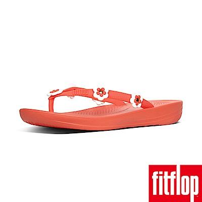 FitFlop IQUSHION FLIP FLOPS FLOWER-珊瑚橘