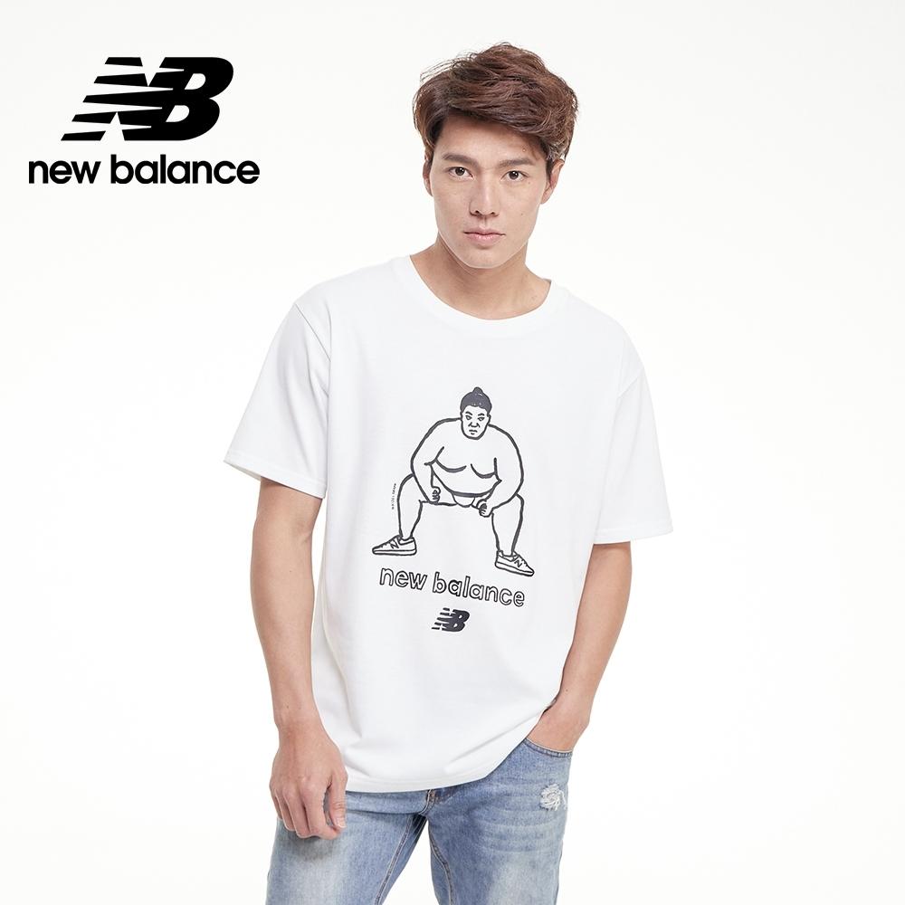 【New Balance】插畫聯名相相撲短袖Tee_中性_白色_MT03520WT