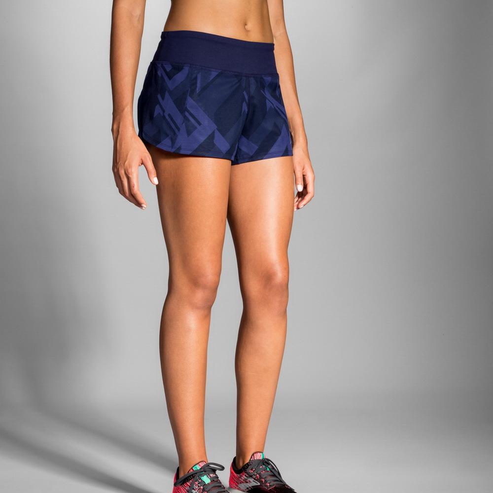 BROOKS 女 Chaser 追避者 3吋慢跑短褲 海軍藍(221254487)