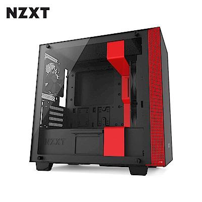 NZXT恩傑 H400 MICRO-ATX CASE 電腦機殼/鋼化側透玻璃-紅