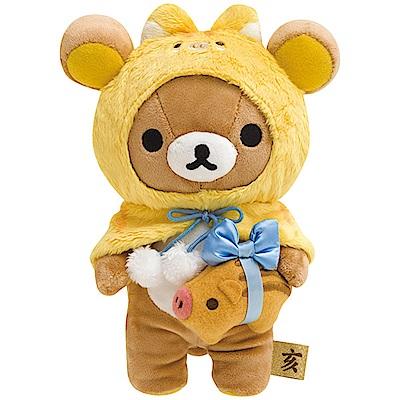 拉拉熊 2019 豬年新春店舖限定版毛絨公仔。懶熊San-X