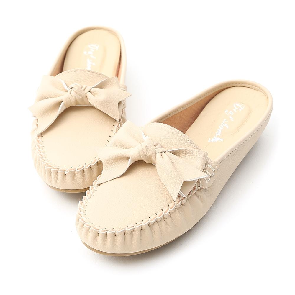 D+AF 甜美日常.MIT蝴蝶結豆豆穆勒鞋*米