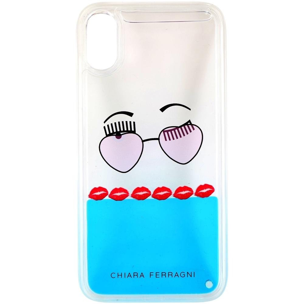 Chiara Ferragni 墨鏡紅唇圖案iPhone X手機殼(5.8吋)