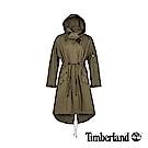 Timberland 女款馬提尼橄欖綠軍裝可拆式連帽派克大衣|B3104