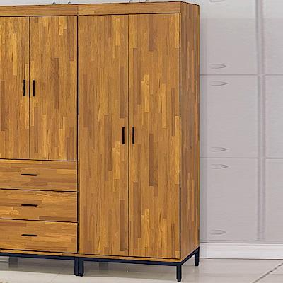 AS-艾瑪工業風雙吊衣櫥-77x56x196cm