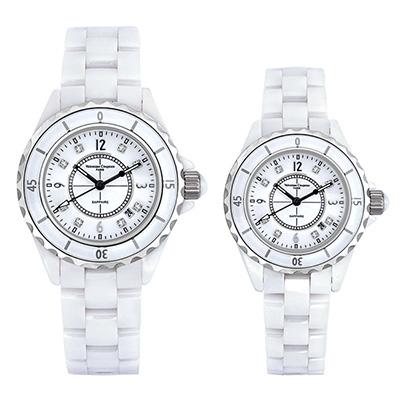 Valentino Coupeau 范倫鐵諾 古柏 精密陶瓷腕錶-白陶/39+35mm