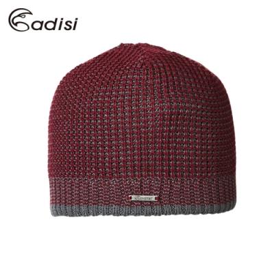 ADISI Primaloft雙色立體花紋針織雙層保暖帽 AS18097 / 棗紅