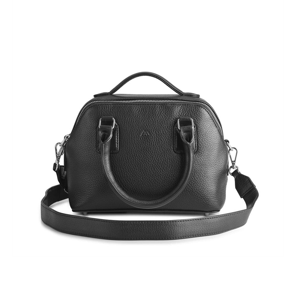 MARKBERG Small Evie 丹麥手工牛艾維小貝殼包 斜背包 手提包(極簡黑)