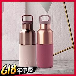 [時時樂限定](加贈收納包)HYDY保溫瓶_CinCin 蜜粉金瓶(三色)480ml