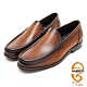 AMBER經典系列素面漸層皮革直套式紳士鞋方頭鞋-淺咖啡色 product thumbnail 1