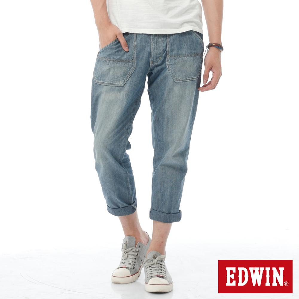 EDWIN EASY PANTS七分休閒褲-男-中古藍