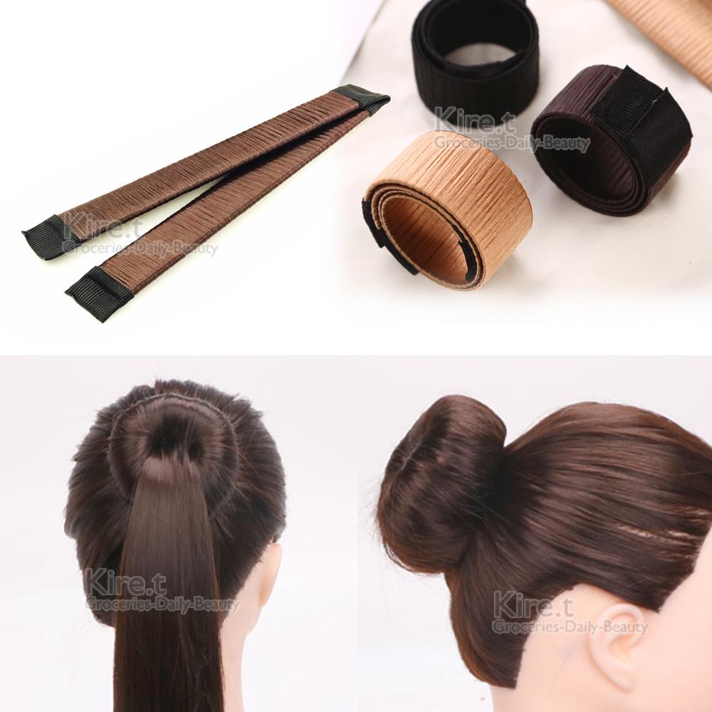kiret 海綿寶寶假髮圈包頭/盤髮器+贈橡皮筋髮圈 @ Y!購物