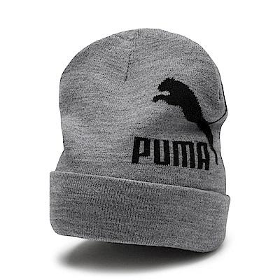 PUMA-男女流行系列毛帽-中麻花灰