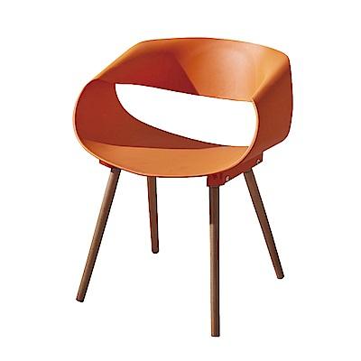 文創集 安娜塑鋼實木餐椅組合(四色可選+二入組)-60x44x73cm免組