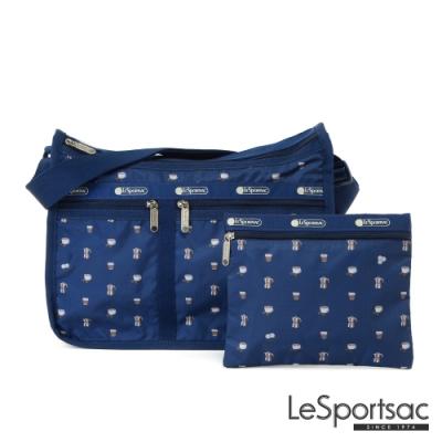 LeSportsac - Standard雙口袋A4大書包-附化妝包 (經典咖啡)