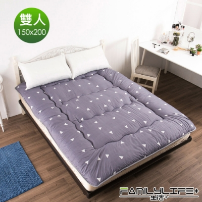 【FL生活+】日式加厚8cm雙人床墊(150*200cm)-蔚藍海岸(FL-109-E)