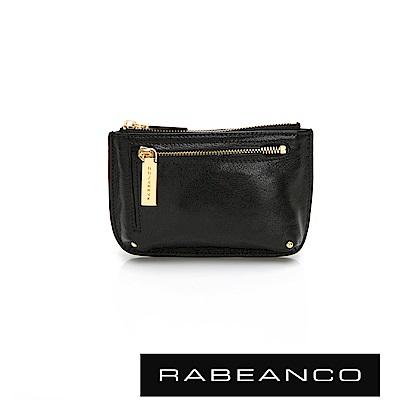 RABEANCO 迷時尚系列雙拉鍊零錢包(大) - 鋼琴黑