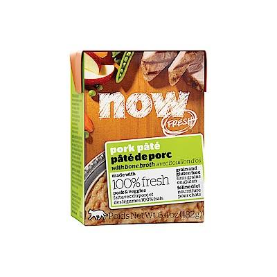 NOW FRESH真鮮利樂貓餐包 豐醬無穀鮮豬肉 182g 12件組