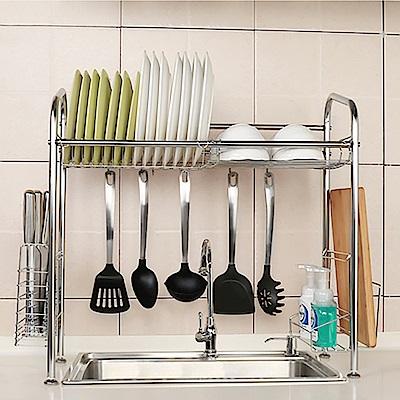 【家適帝】304不銹鋼水槽瀝水廚房收納架(單槽)