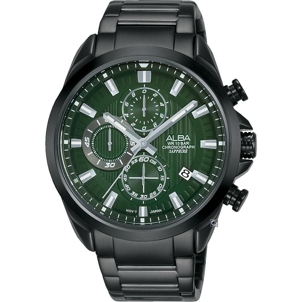 ALBA 雅柏 酷炫三眼 計時多功能腕錶 VD57-X187G AM3819X1/44mm