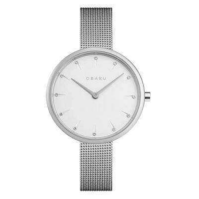 OBAKU 晶鑽雋永時尚腕錶-銀(V233LXCIMC)/30mm