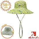 挪威 ACTIONFOX 女新款 抗UV透氣雙面遮陽帽UPF50+_夾花黃