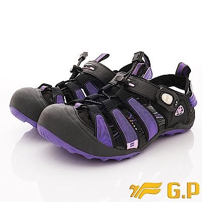 GP時尚涼拖  磁扣兩穿護趾涼鞋款-NI224W-41紫(女段)